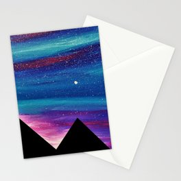 PYRAMIDS OF GIZA SPARKLY SILHOUETTE 2 Stationery Cards
