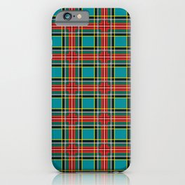 Minimalist Macbeth Tartan Ancient iPhone Case