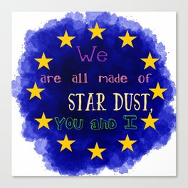 Europe - a star chart Canvas Print