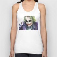the joker Tank Tops featuring Joker  by Olechka