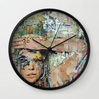 ice cream Wall Clocks featuring Ice Cream by Katy Hirschfeld