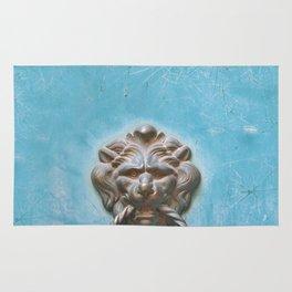 Vintage Lion Door Knocker Rug
