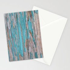 Rustic turquoise weathered wood shabby style Stationery Cards