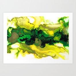Lemon Lime Twist Art Print