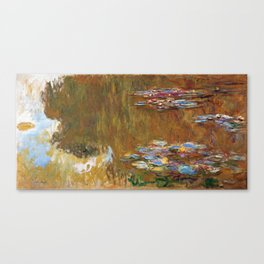 1917-Claude Monet-The Water Lily Pond Canvas Print