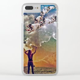 Flying Pigs Clear iPhone Case