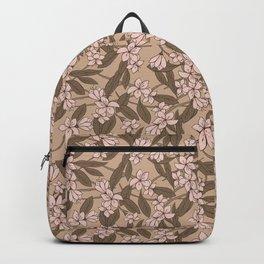 Sakura Branch Pattern - Pale Dogwood + Hazelnut Backpack