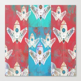 Magic Rocket Wings Space Print Canvas Print
