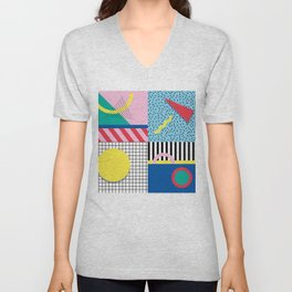 Memphis Party Unisex V-Neck