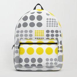 Yellow and Grey Polka Dots Backpack