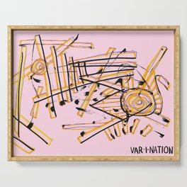Var I Nation Pink Serving Tray