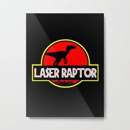 Laser Raptor Metal Print