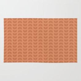 Copper Tan Leaves Rug