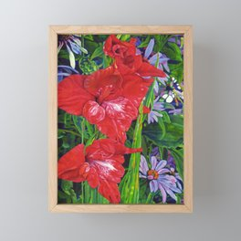 Gladiola's and Echinacea Framed Mini Art Print