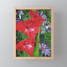Gladiola's and Echinacea Framed Mini Art Print