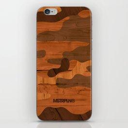 Modern Woodgrain Camouflage / Woodland Print iPhone Skin
