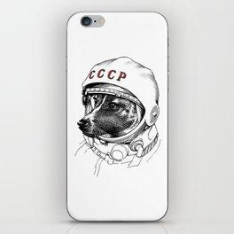 Laika space traveler iPhone Skin