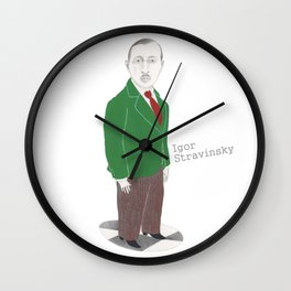 Igor Stravinsky Wall Clock