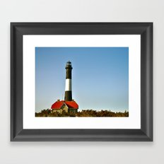 Fire Island Lighthouse Framed Art Print