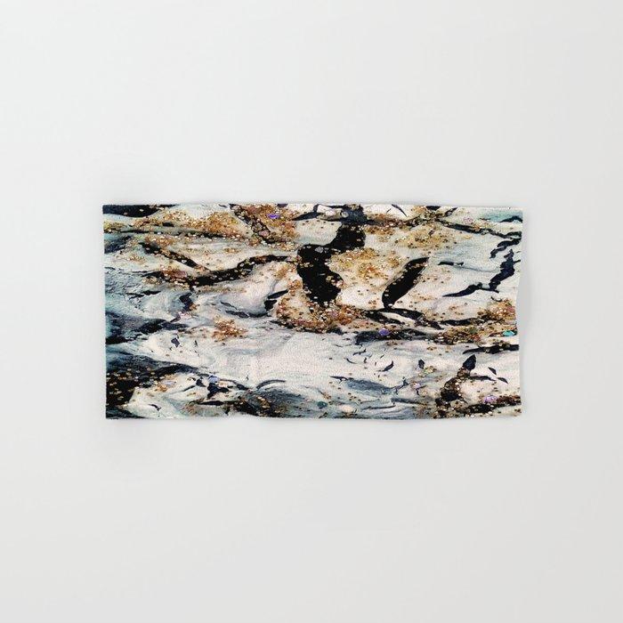 gray&gold  marble Hand & Bath Towel