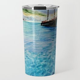 Shinning Ocean - Watercolor Landscape Art Travel Mug