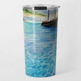 Shinning Ocean - Watercolor Landscape Art Travel Mug
