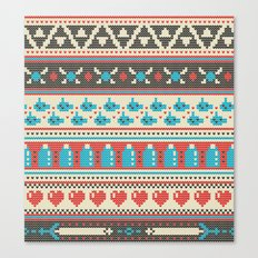 Fair-Hyle Knit Canvas Print