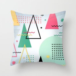 Abstract Christmas Throw Pillow