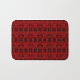 Antiallergenic Hand Knitted Red Winter Wool Pattern - Mix & Match with Simplicty of life Bath Mat