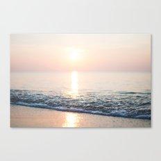 Calm Ocean -ocean, waves, sun, pastel Canvas Print