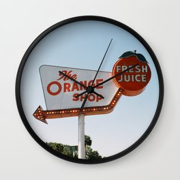The Orange Shop Wall Clock