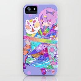 Rainbow sword -Nekoneko iPhone Case