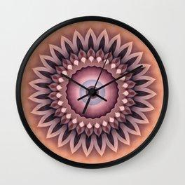 Sepia Zinnia Wall Clock