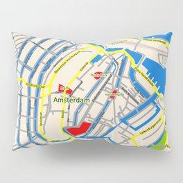 Amsterdam Map design Pillow Sham