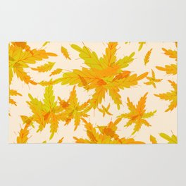 Exotic Tropical oak leaves pattern Rug