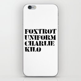 army funny sayings iPhone Skin
