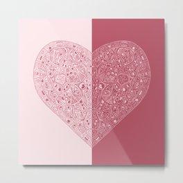 Heart of Heart Anatomy Metal Print