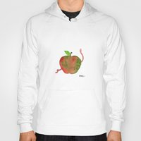 apple Hoodies featuring Apple by Phil McAndrew