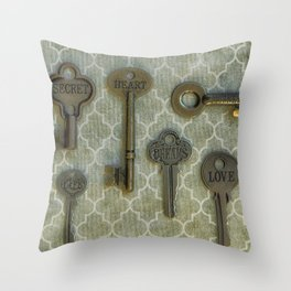 Skeleton Keys to Life  Throw Pillow