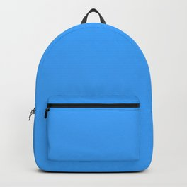 Solid , bright , blue Backpack