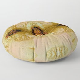 Antique Insect Jewel Floor Pillow