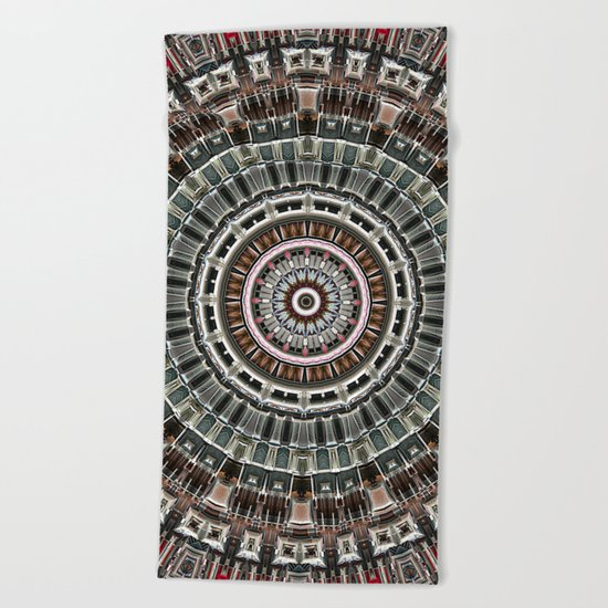 Fan of Geometry Beach Towel