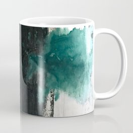 Empire: a minimal, abstract piece in teal and midnight blue by Alyssa Hamilton Art Coffee Mug
