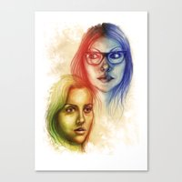 alex vause Canvas Prints featuring Alex Vause & Piper Chapman by Seventy-three