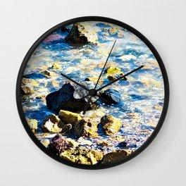 Rocky Seashore Coast Coastal Rocks Texture Wall Clock