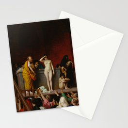 Slave Market in Ancient Rome by Jean-Leon Gerome Stationery Cards