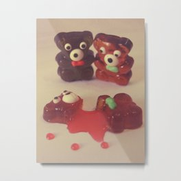 Gummy Crime Metal Print