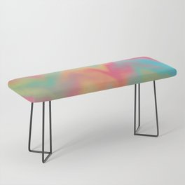 Abstract Colorful Gradient Rainbow Pattern Design Beautiful Modern Popular Trending Waves Elegant Bench