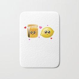 We're Better Together Cute Honey Lemon Pun Bath Mat