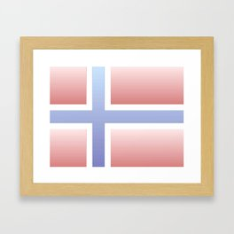 flag of norway  -with color gradient Framed Art Print